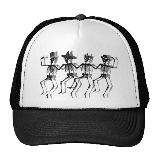 Dancing Skeletons Mesh Hat