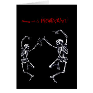Dancing Skulls Pregnancy Announcement Card