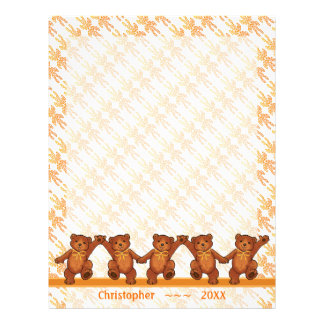 Dancing Teddy Bears Custom Scrapbook Pages 21.5 Cm X 28 Cm Flyer