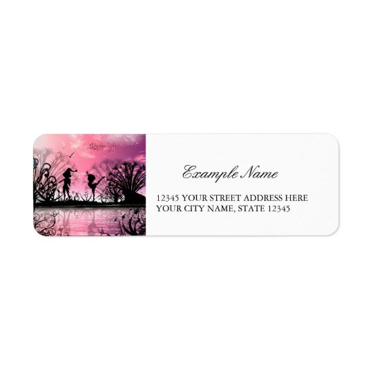 Dancing to violin music in a fantasy world return address label