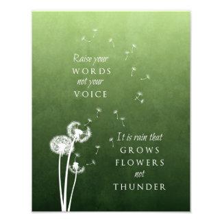 Dandelion Art - Raise your words Photograph