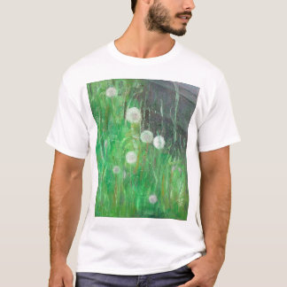 Dandelion Clocks in Grass 2008 oil on canvas T-Shirt