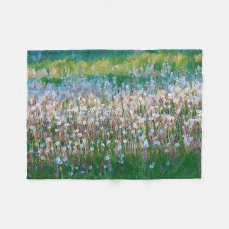 Dandelion Field of Wishes Fleece Blanket