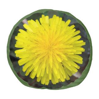 Dandelion Flower Round Pouf Cushion