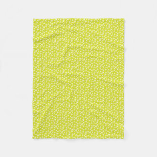 Dandelion flowers fleece blanket