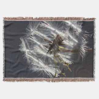 Dandelion in the Sunshine Throw Blanket