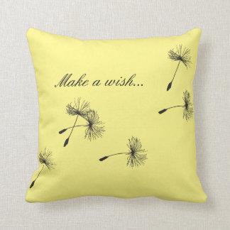 Dandelion Make a Wish Customized Color Pillow