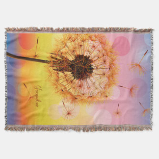 Dandelion Make A Wish Throw Blanket