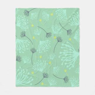 Dandelion Silhouette Fleece Blanket