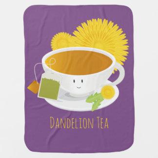 Dandelion Tea Cup Character   Baby Blanket