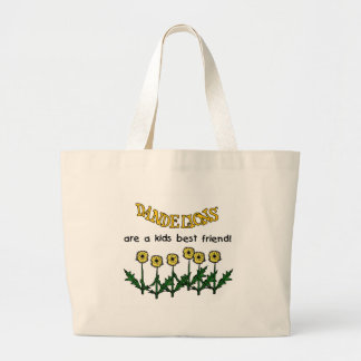 Dandelions Are A Kids Best Friend Tshirts and Gift Large Tote Bag