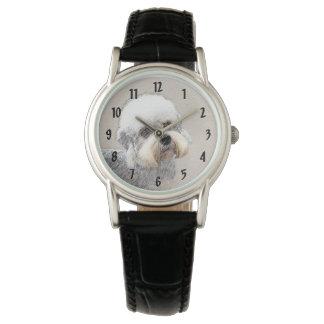 Dandie Dinmont Terrier Painting Original Dog Art Watch