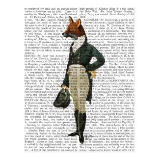 Dandy Fox Full 2 Postcard