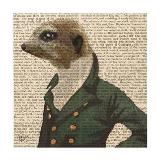 Dandy Meerkat Portrait Wood Print