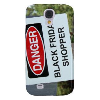 Danger Black Friday Shopper sign Galaxy S4 Case