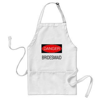 Danger - Bridesmaid Funny Wedding T-Shirt Mug Hat Standard Apron