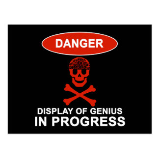 Danger Genius Postcard