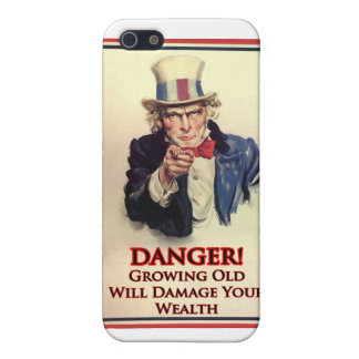 Danger Growing Old Uncle Sam Poster iPhone 5/5S Cover