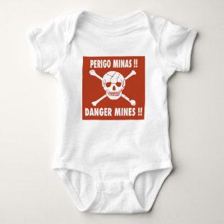 Danger Mines Sign, Angola Baby Bodysuit