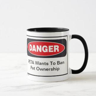 Danger PETA mug