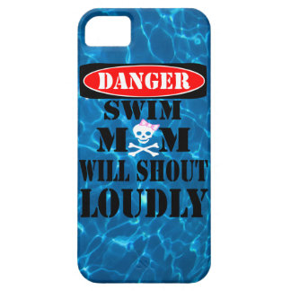 Danger Swim Mom Will Shout Loudly Phone Case