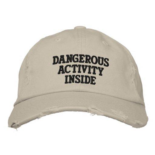 Dangerous Activity Inside Baseball Cap