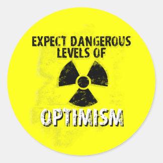 dangerous Optimism Classic Round Sticker