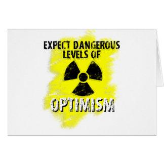 dangerous Optimism Greeting Card
