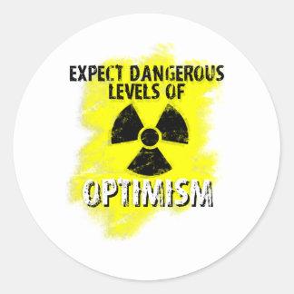 dangerous Optimism Round Sticker