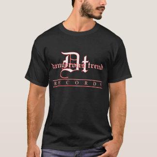 Dangerous Trend Records Logo Black Tee