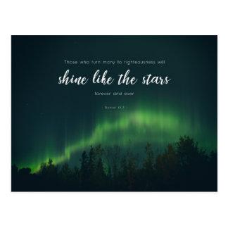 Daniel 12:3 - Shine like the stars Postcard