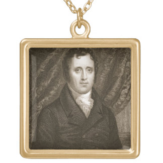 Daniel D. Tompkins (1774-1825) engraved by Thomas Gold Plated Necklace