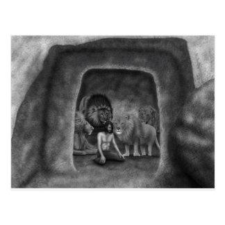 Daniel in the Lion's Den Postcard