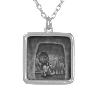 Daniel in the Lion's Den Silver Plated Necklace
