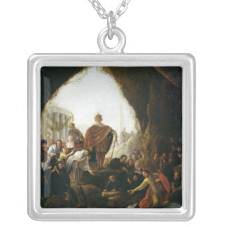 Daniel Killing the Dragon of Baal Silver Plated Necklace