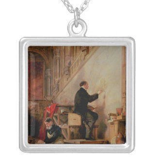 Daniel Maclise  painting his mural Silver Plated Necklace