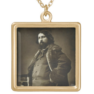 Daniel Vierge (1851-1904), from 'Galerie Contempor Gold Plated Necklace