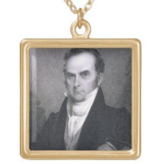 Daniel Webster (1782-1852) (engraving) Gold Plated Necklace