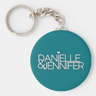 Danielle and Jennifer Teal Keychain