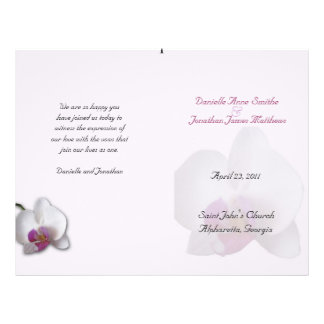 Danielle's Wedding Program Flyer
