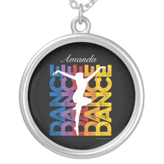 Danse et Lettres (Dance) Silver Plated Necklace