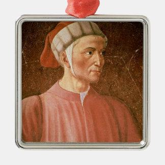 Dante Alighieri (1265-1321) detail of his bust, fr Christmas Ornament