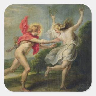 Daphne and Apollo (oil) Square Sticker
