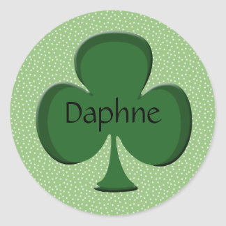 Daphne Shamrock Name Sticker / Seal