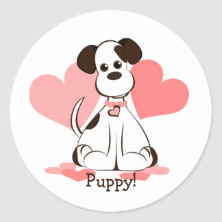 Daphne the Adopted Dog Classic Round Sticker