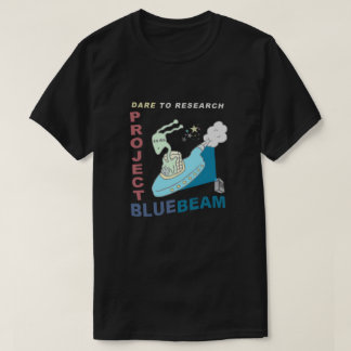 Dare to Research Project Blue Beam Tee Shirt