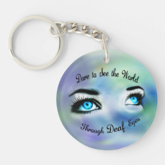Dare to See the World...acrylic keychain