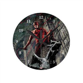 Daredevil Atop A Gargoyle Round Clock