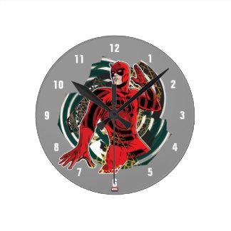 Daredevil Sensory Swirl Round Clock