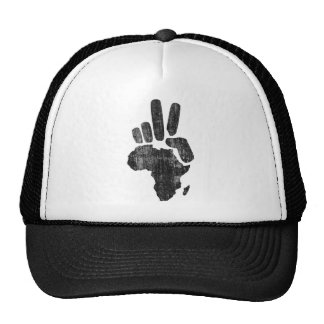 darfur africa peace hand mesh hat